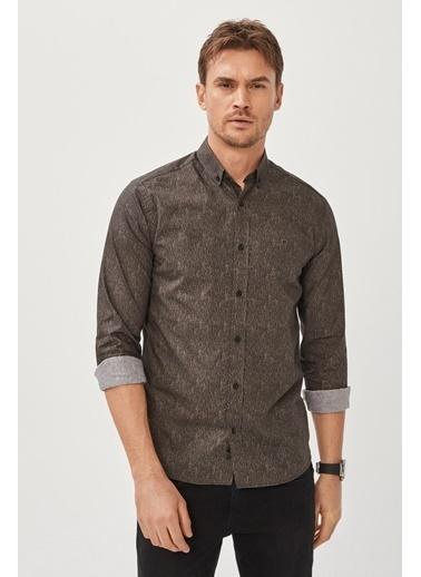 Avva Erkek  Baskılı Gömlek A02Y2315 Antrasit
